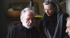Michael Haneke en el rodaje de 'Amor' junto a Emmanuelle Riva y Jean-Louis Trintignant