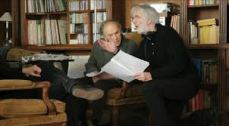 Michael Haneke en el rodaje de 'Amor' junto Jean-Louis Trintignant