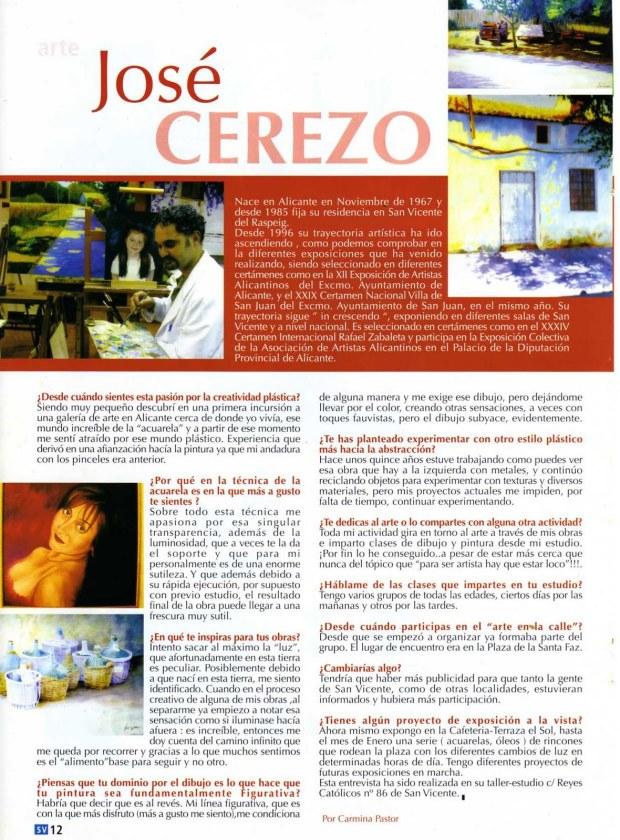 Entrevista a José Cerezo