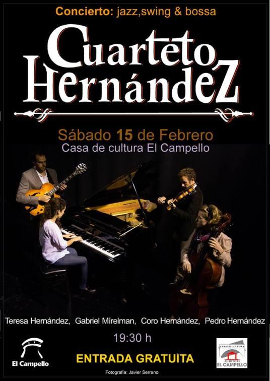 Cuarteto Hernández, 15 febrero, Aula de Cultura Campello