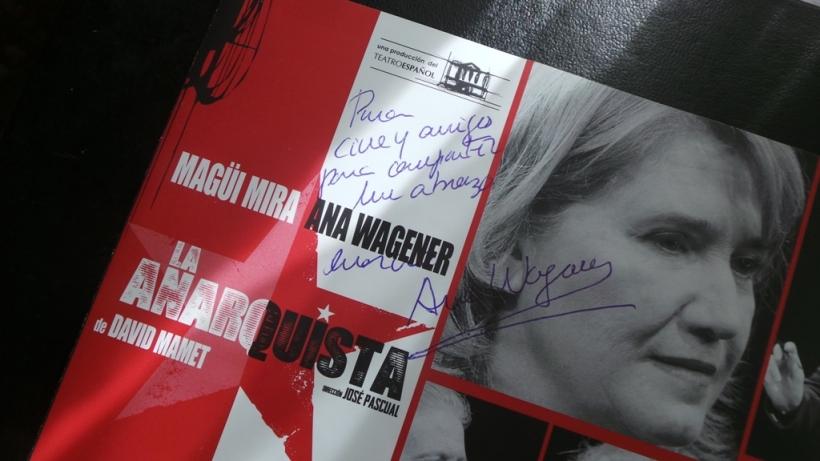 Dedicatoria de Ana Wagener al grupo Cine y Amigos Para Compartir
