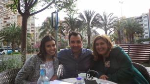 Sheila Montes, Vicente Seva y Toñi Magaña