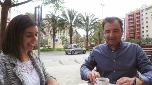 Vicente Seva y Sheila Montes durante la entrevista
