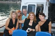 Miembros de Cine para Compartir ya en el barco