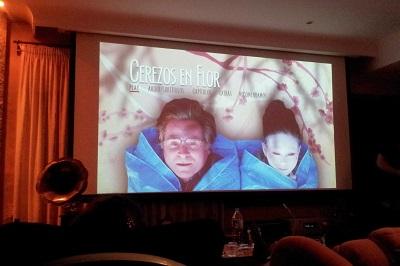 Pantalla sesión Los Cerezos en Florm en Cine Para Compartir