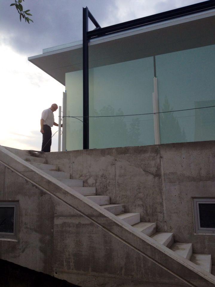 Escaleras y paredes de la superficie aérea Sala 2 CPC
